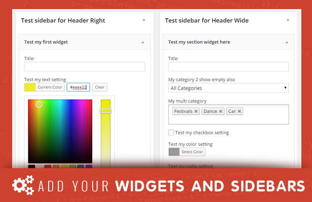 sneeit framework plugin - back-end for wordpress themes - sidebars and widgets