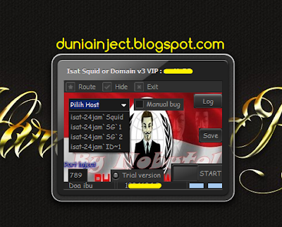 Inject Isat Squid or Domain v3 VIP Premium Trial 2 Minggu Awal Agustus 2015