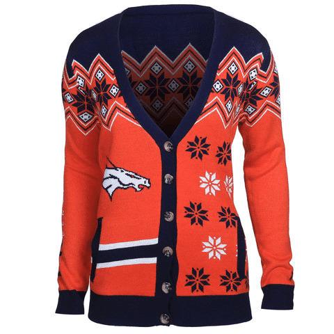 Denver Broncos Women's Official NFL Cardigan Sweater
