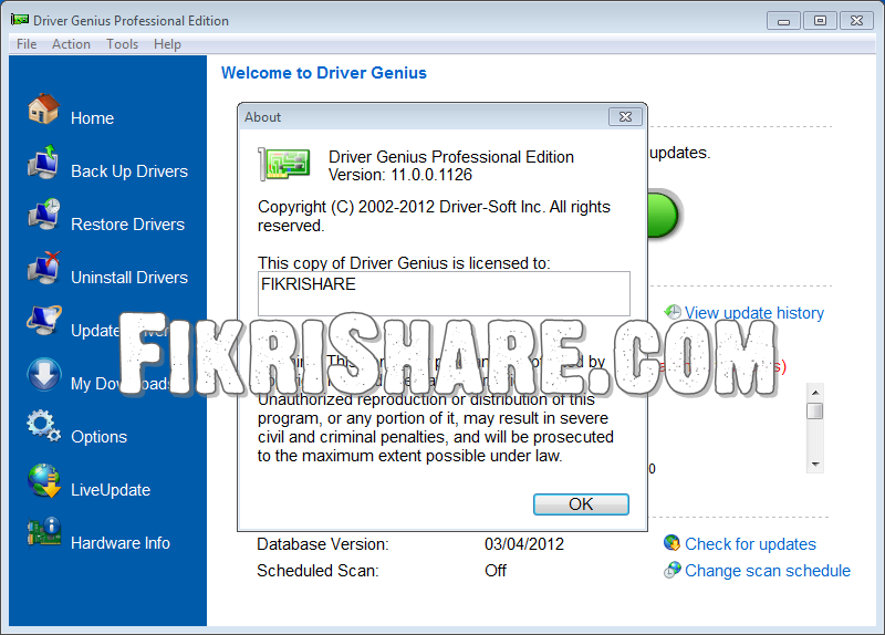 Driver genius 2012 serial key download