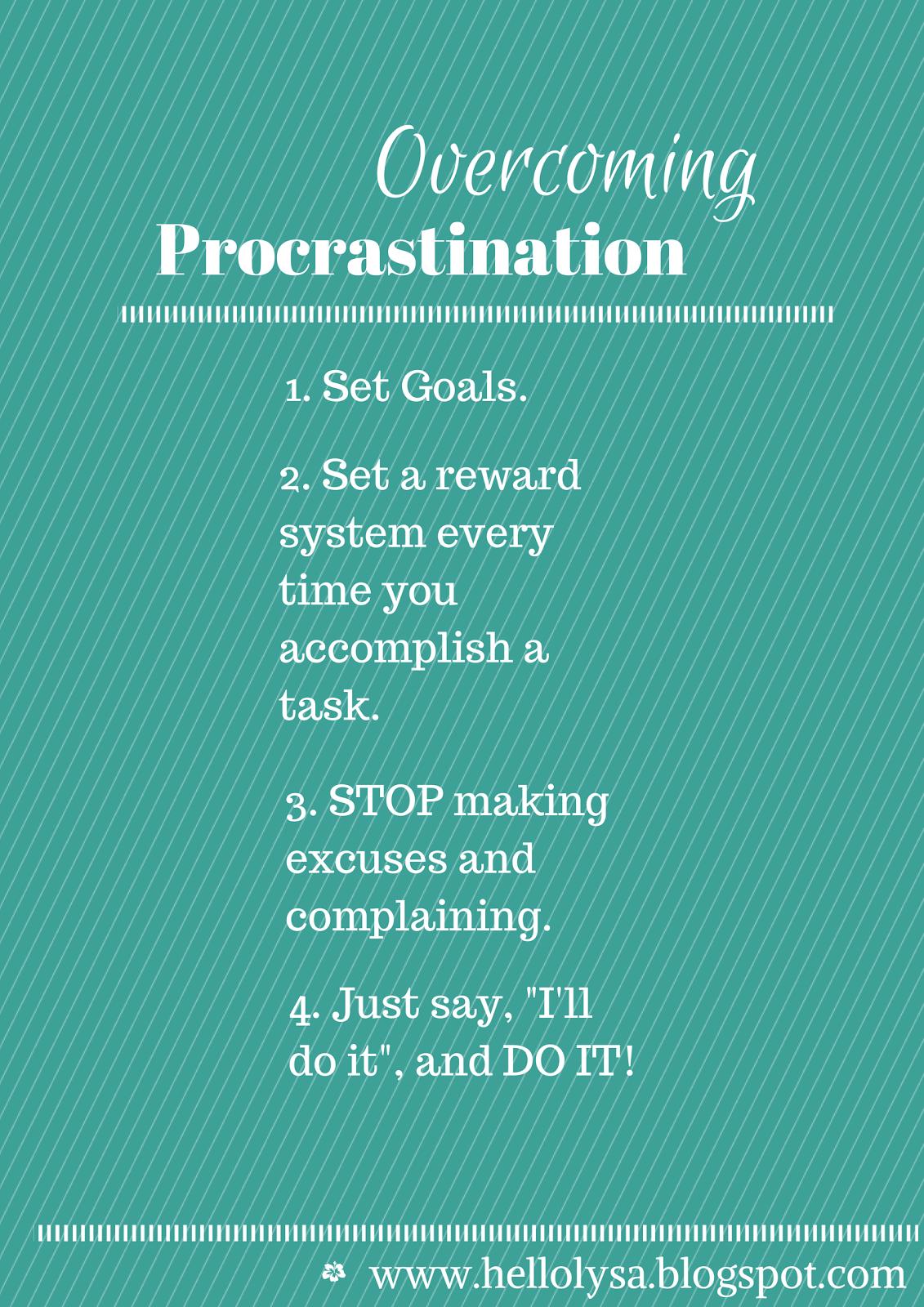 Overcoming Procrastination.