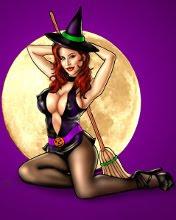 Vještica i pun mjesec, Halloween download besplatne slike pozadine za mobitele