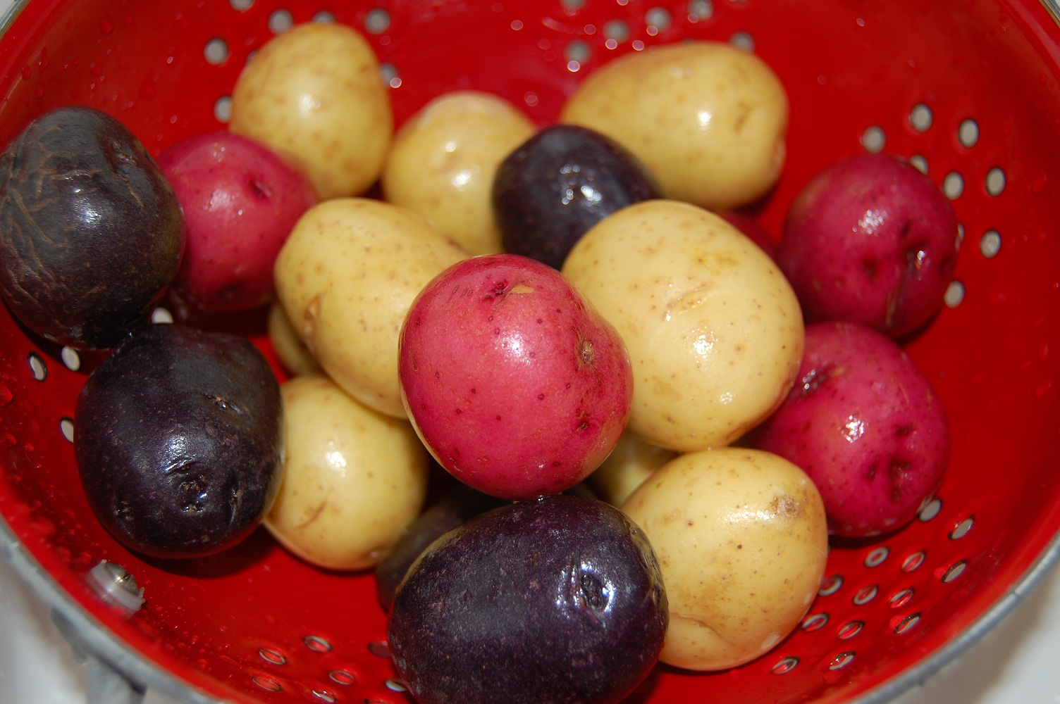 ingredients 2 pounds of small potatoes red white and blue