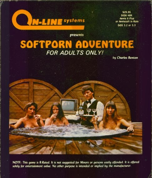 Softporn Adventure cover, featuring Roberta Williams