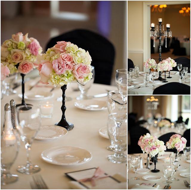 Isha Foss Events Blush Black Country Club Wedding Design