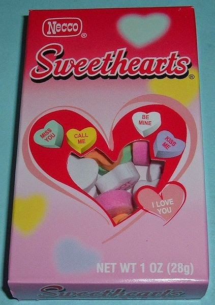 box of necco sweethearts