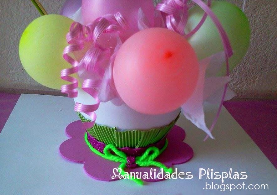 manualidades flores hechas con globos y papel de seda
