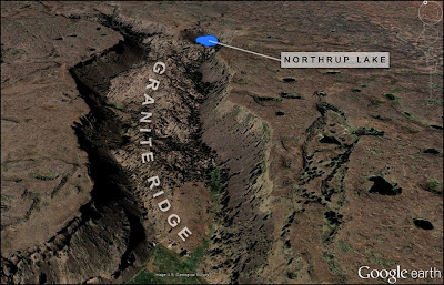 Northrup Lake and Northrup Canyon geology.