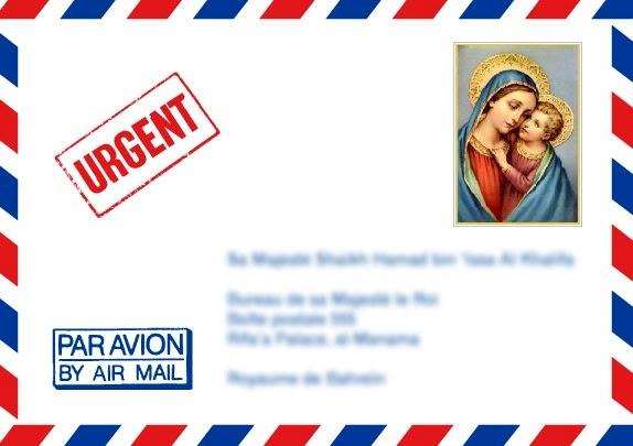 luchtpost enveloppe met postzegel