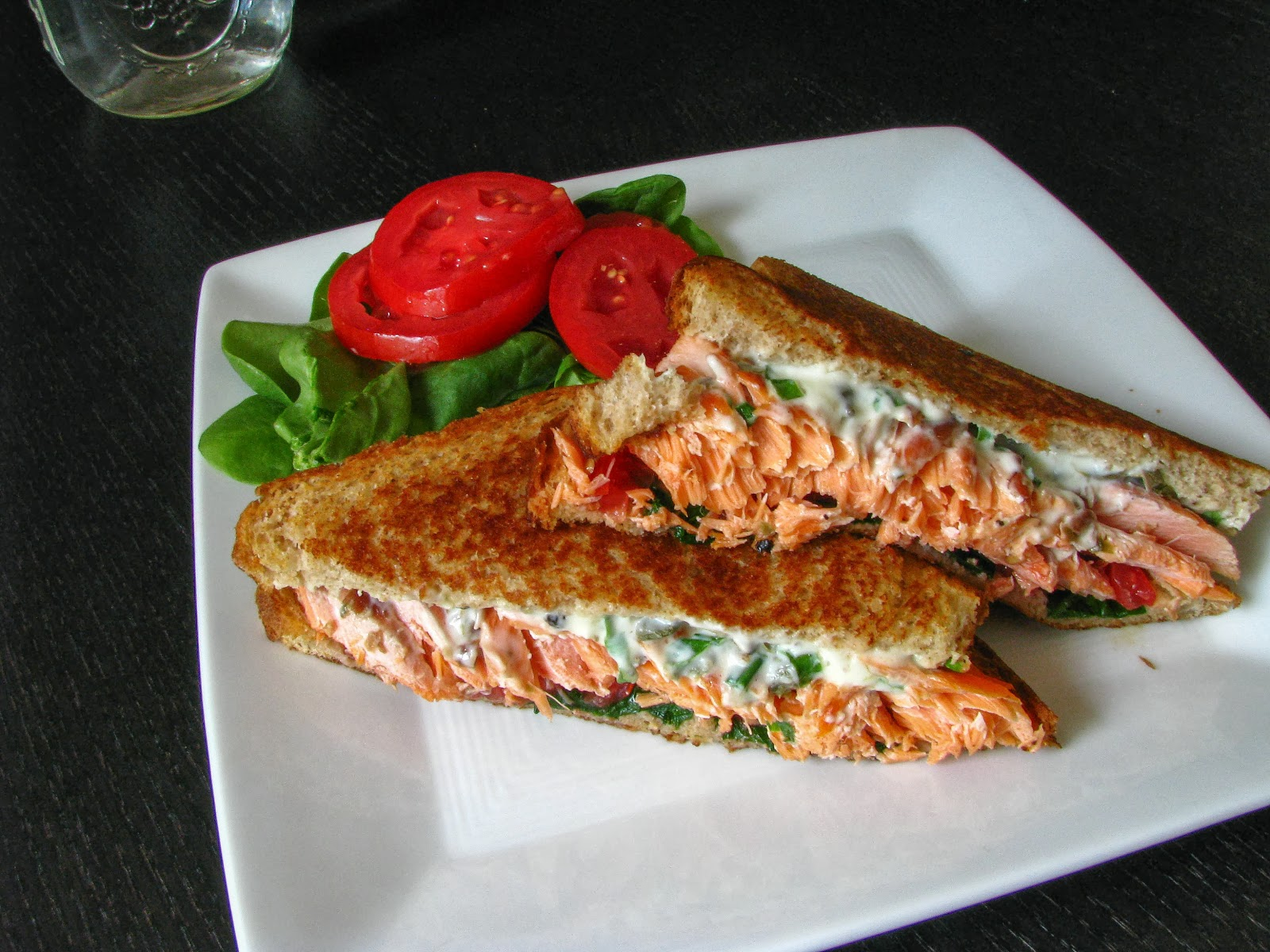 Grilled Salmon Sandwiches Recipe — Dishmaps