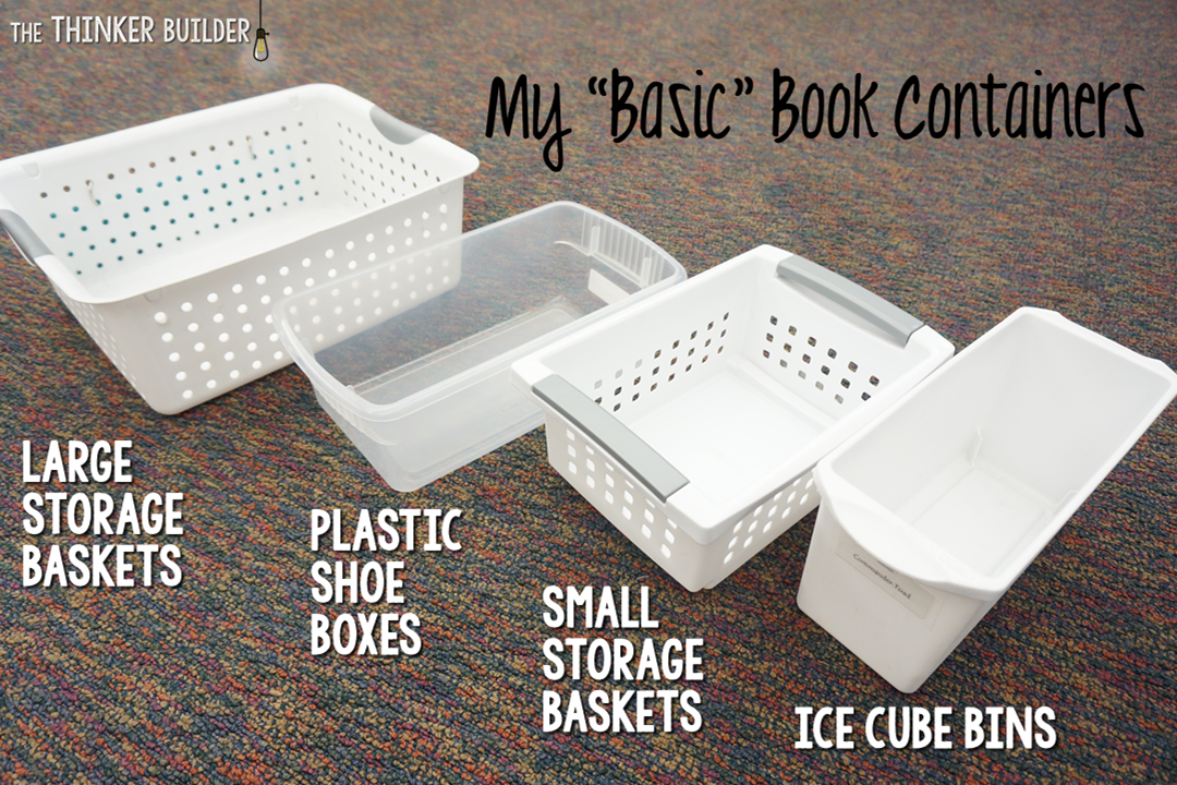 Ice Cube Bins Are Cheap And Great For Chapter Books (holds About 6 10). I  Use Them For My Chapter Book Series Categories. I Also Use Some To Hold  Magazines, ...