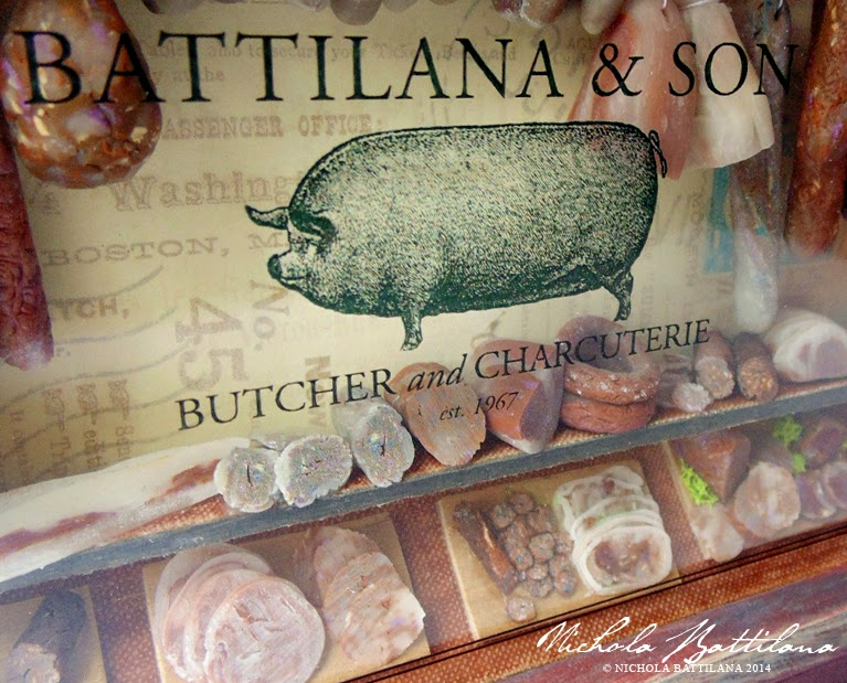 Miniature butcher by Nichola Battilana