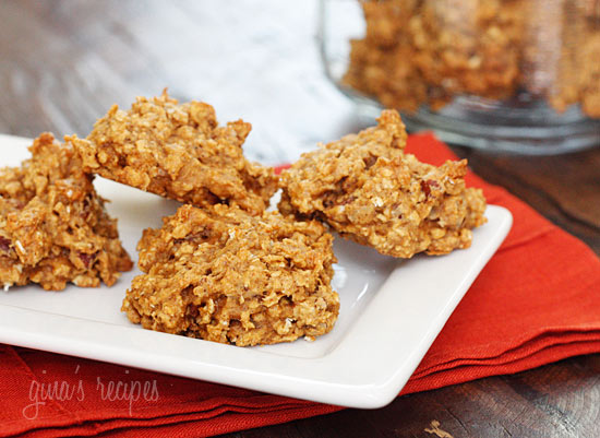 pumpkin obsessed! Chewy, low-fat oatmeal cookies made with quick oats ...
