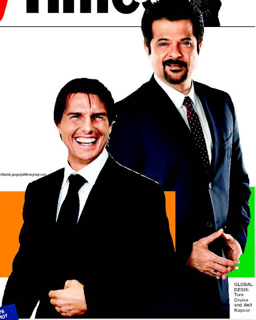 Tom Cruise with Anil kapoor