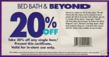 Does Bed Bath And Beyond Use Online Coupons