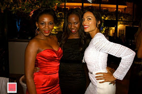 Genevieve Spotted With Christain Louboutin & Hollywood Star, Rosario Dawson In UK 3