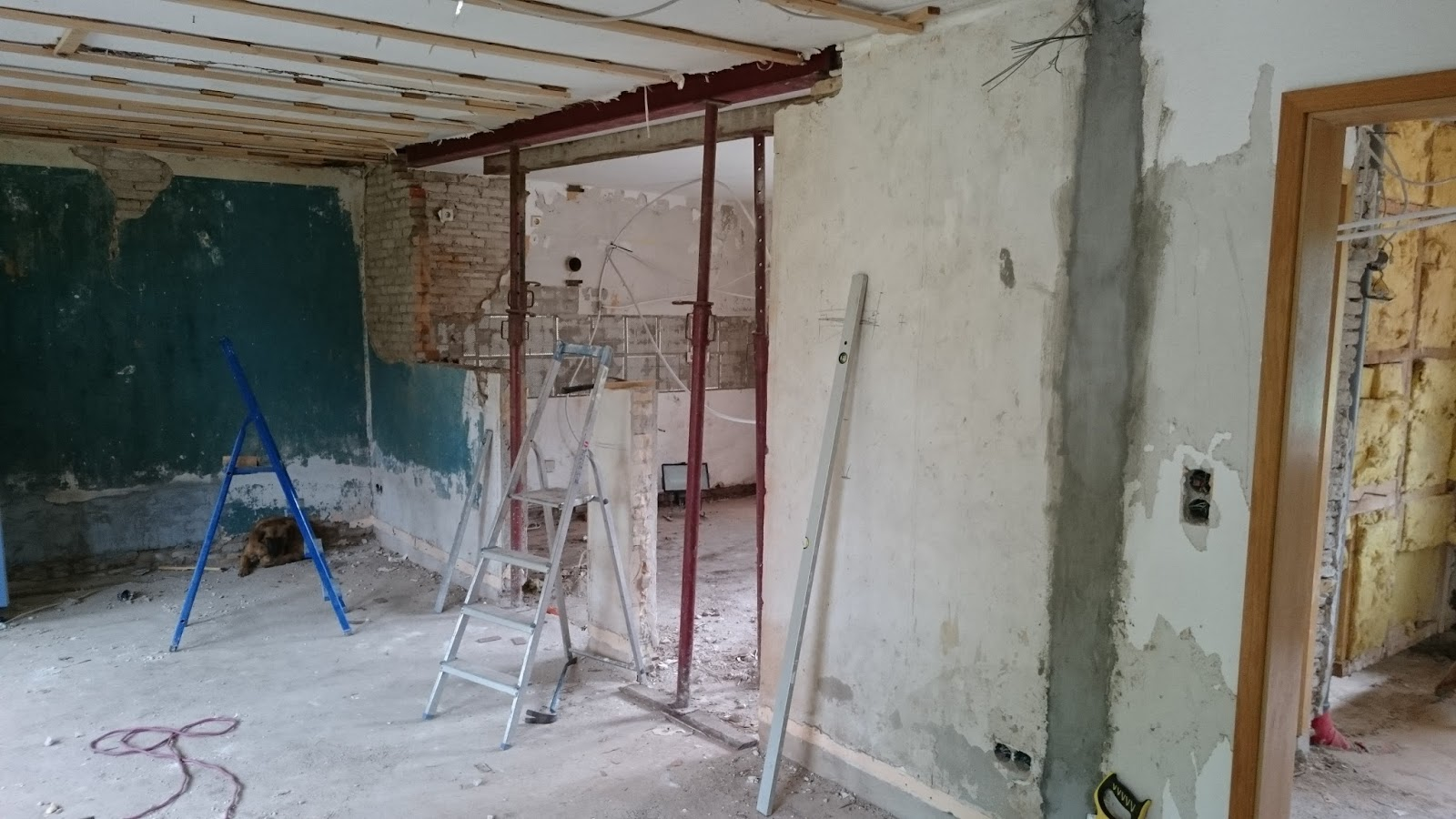 Inspirierend Durchbruch Wand Referenz Von Die Decke Wird Mit Drehsteifen Abgefangen, Anschließend