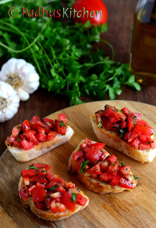 Easy Bruschetta-Bruschetta with tomatoes
