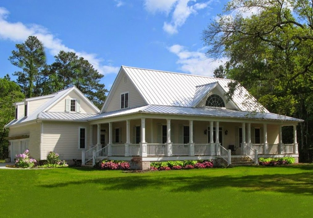 Single Story Country Home Plans with Wrap around Porches