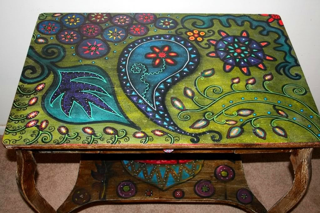Funky Home Decor Hand Painted Coffee TablesNightstands