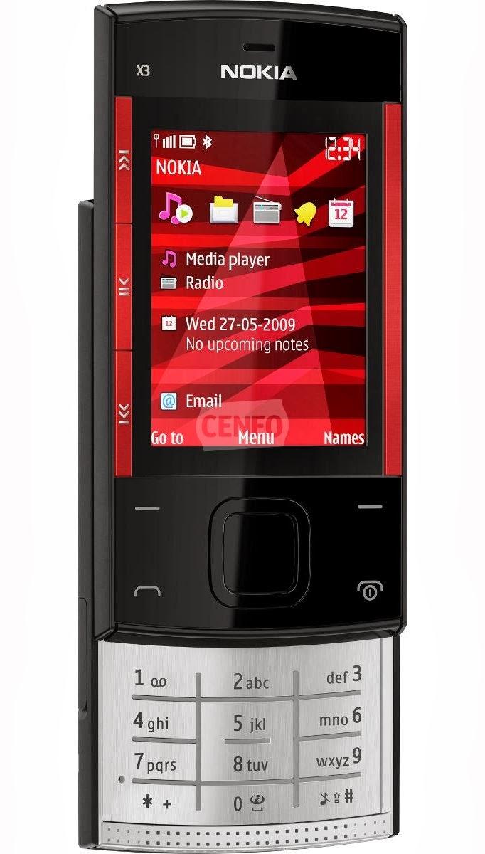 Celular Desbloqueado Nokia X3 02 Rosa c Câmera 5MP  - imagens do celular nokia x3