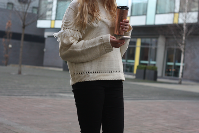 casual office outfit uk fashion blog