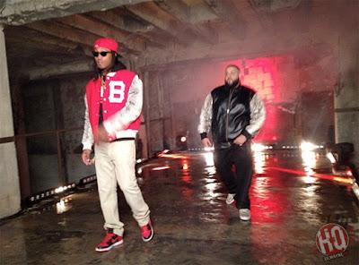 "dj khaled lil wayne future ti ace hood models bottles video shoot6 Photo Updates: Behind The Scene On Set Of DJ Khaled, Lil Wayne, Future, T.I. and Ace Hood's ""Models and Bottles"" Video Shoot"