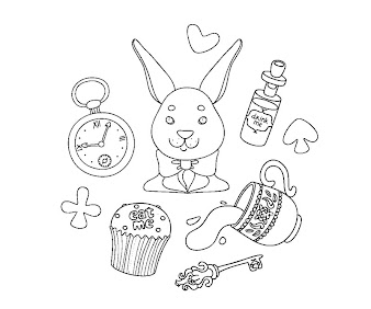 #2 Alice in Wonderland Coloring Page