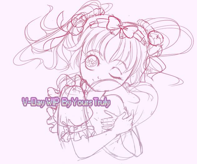 Valentine's wip sketch