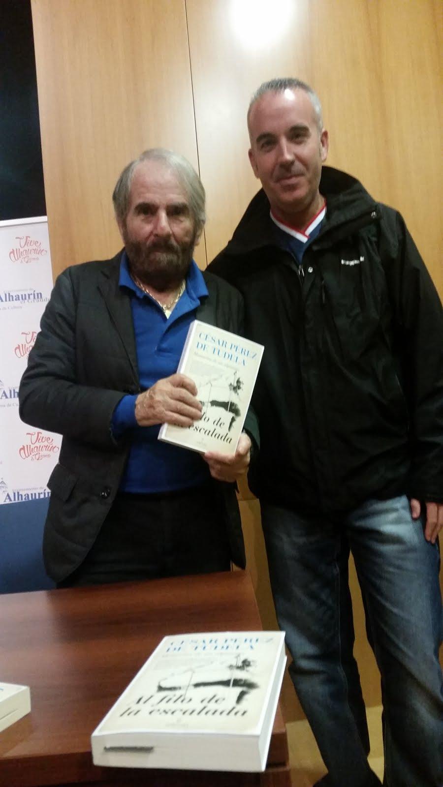 Con la leyenda viva César Pérez de Tudela