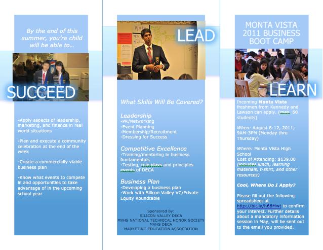 Summer Business Boot Camp Brochure Hana Hyder