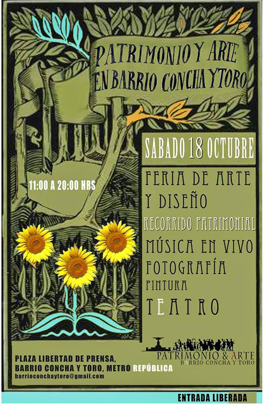 Arte y Cultura en Plaza de la Libertad de Prensa del Barrio Concha y Toro de Santiago
