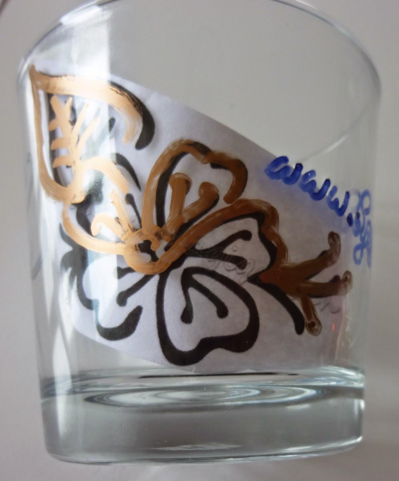 Comment d corer un pot en verre soyez farahmineuse - Comment decorer un verre ...