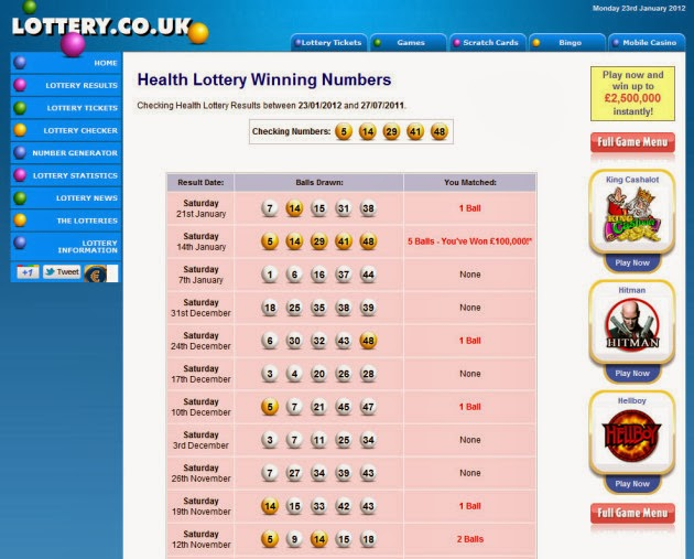 Lottery Numbers