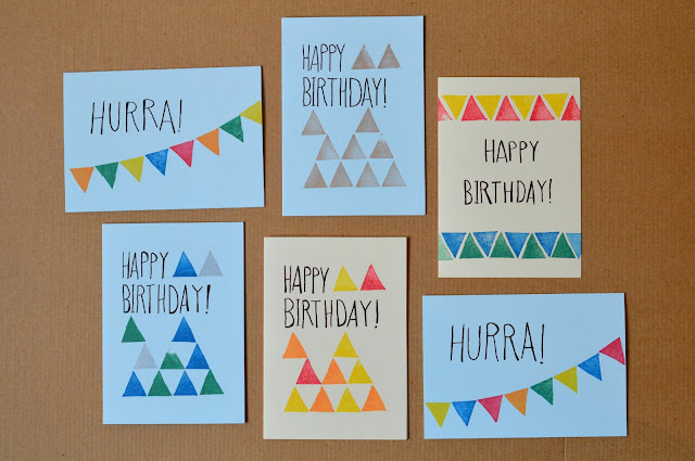 DIY birthday cards with stamps