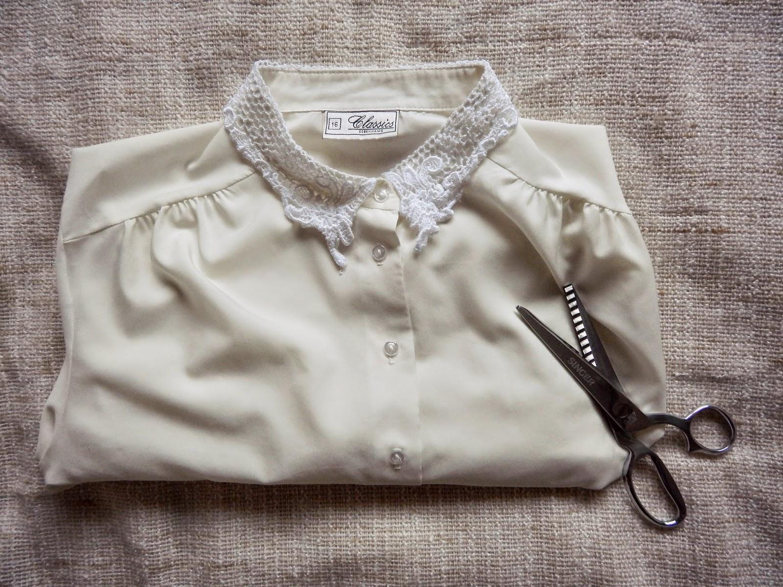 Fake Shirt Collar DIY