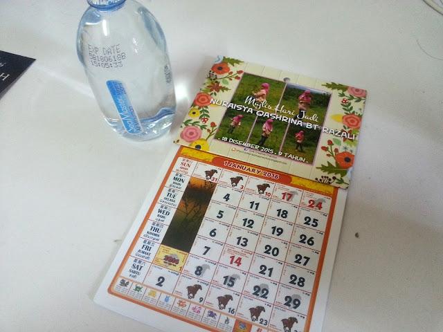 tempahan mini kalendar