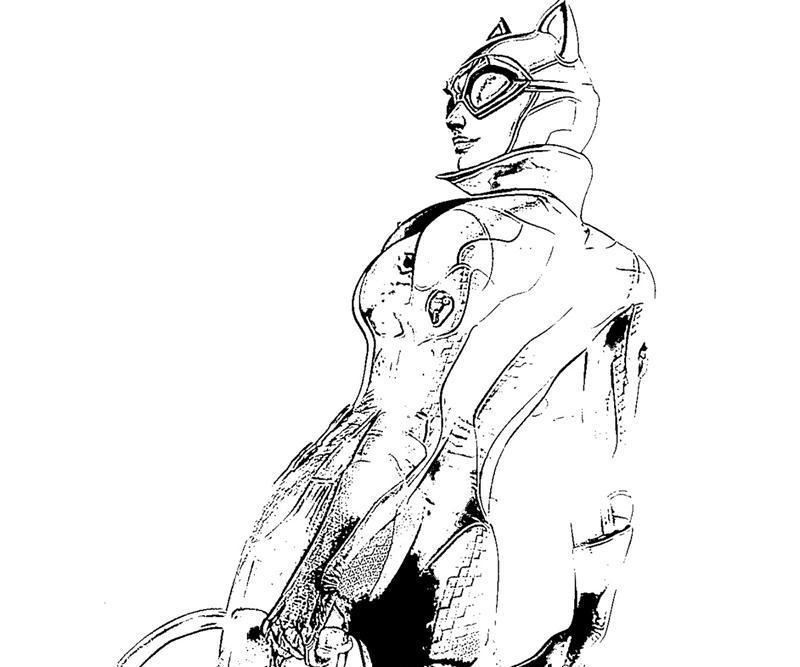 Batman Arkham City Catwoman Character Yumiko Fujiwara Printable Batman Costume Arkham City Coloring In Sheet