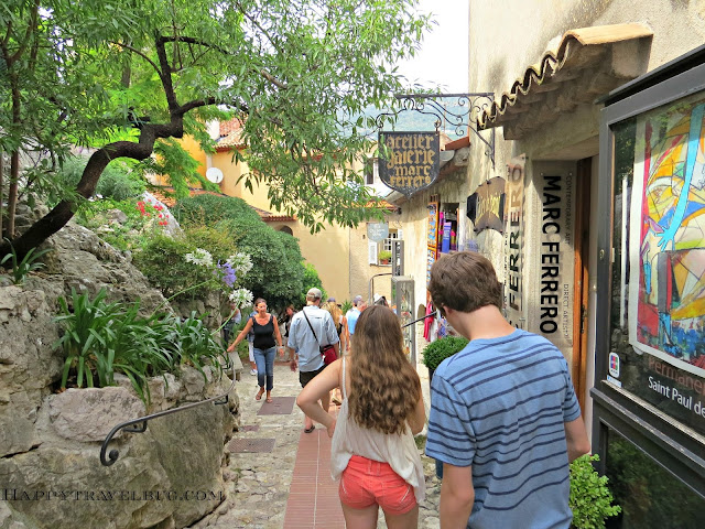 Quaint shops in Eze, France