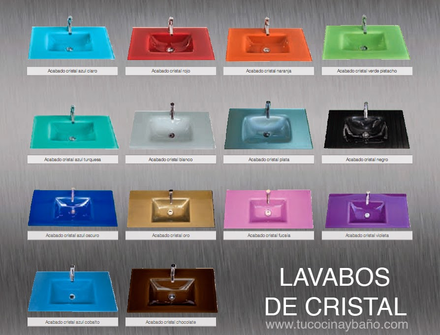 lavabos de cristal disponibles