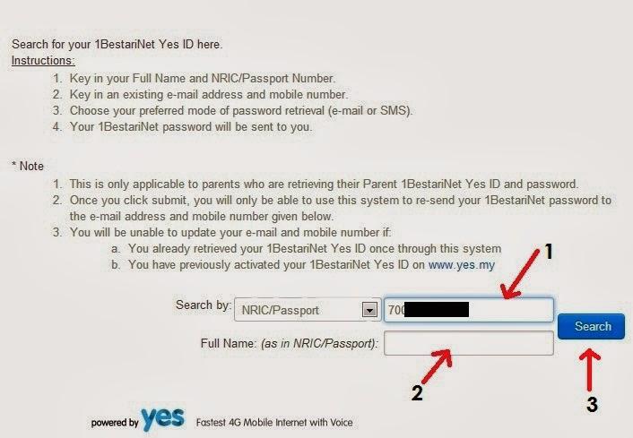 Nama dan Yes ID anda akan terpapar. Masukkan emel dan no tel di ...