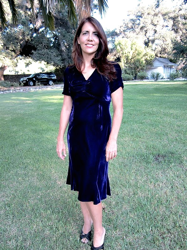 thirties style velvet dress