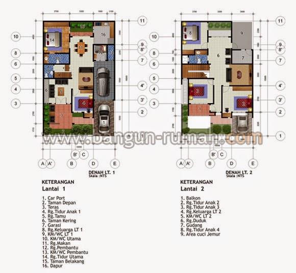 Denah Rumah Minimalis Ukuran Tanah 10 x 15 Meter