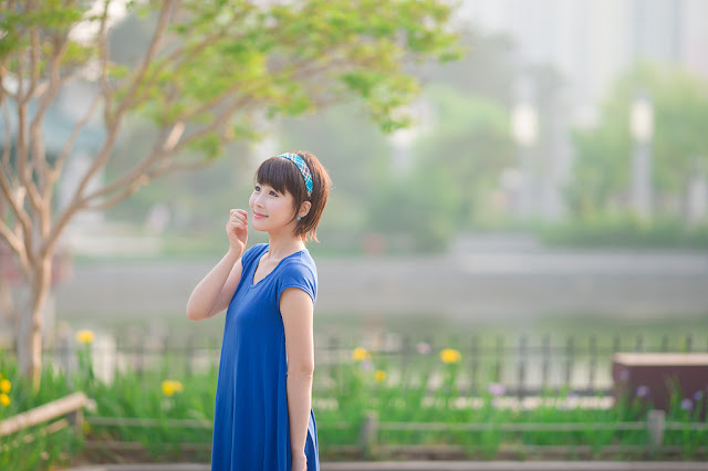 10 kim Ji Min in Blue-very cute asian girl-girlcute4u.blogspot.com