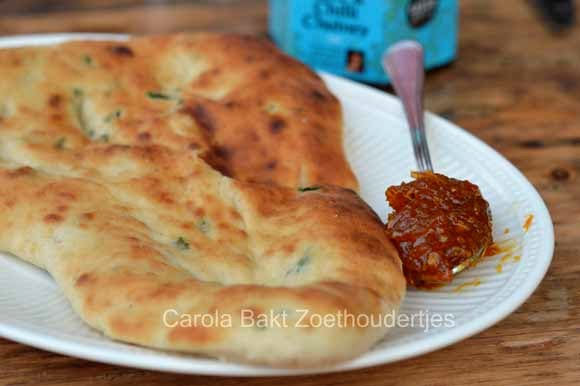 Indiaas Koriander knoflook Naanbrood