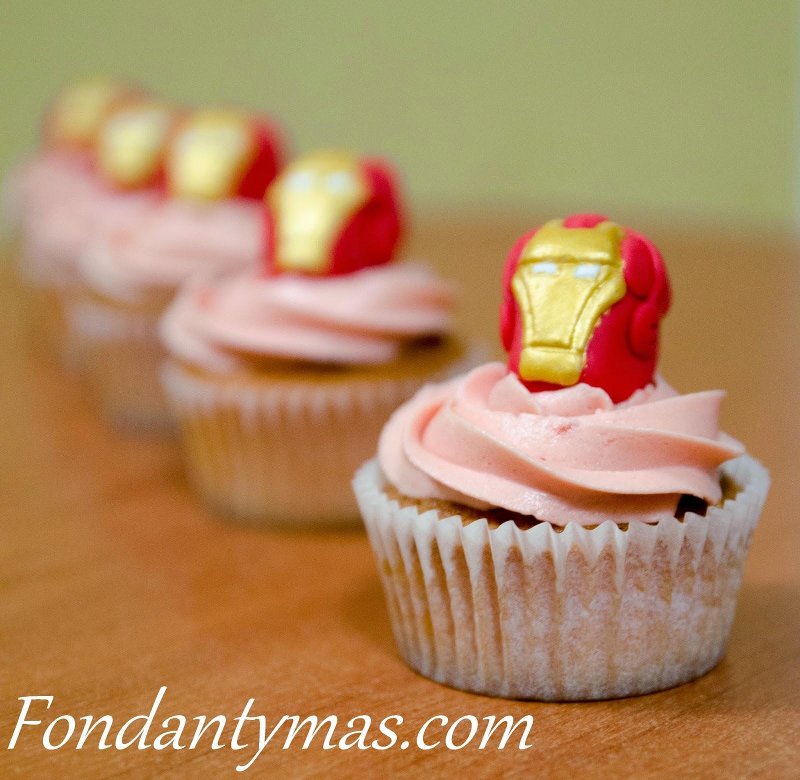 fondant y m s Cupcakes de Los Vengadores y un paso a paso de