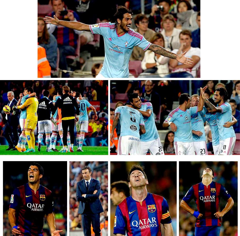 El Celta derrota al Barcelona de Luis Enrique en el Camp Nou