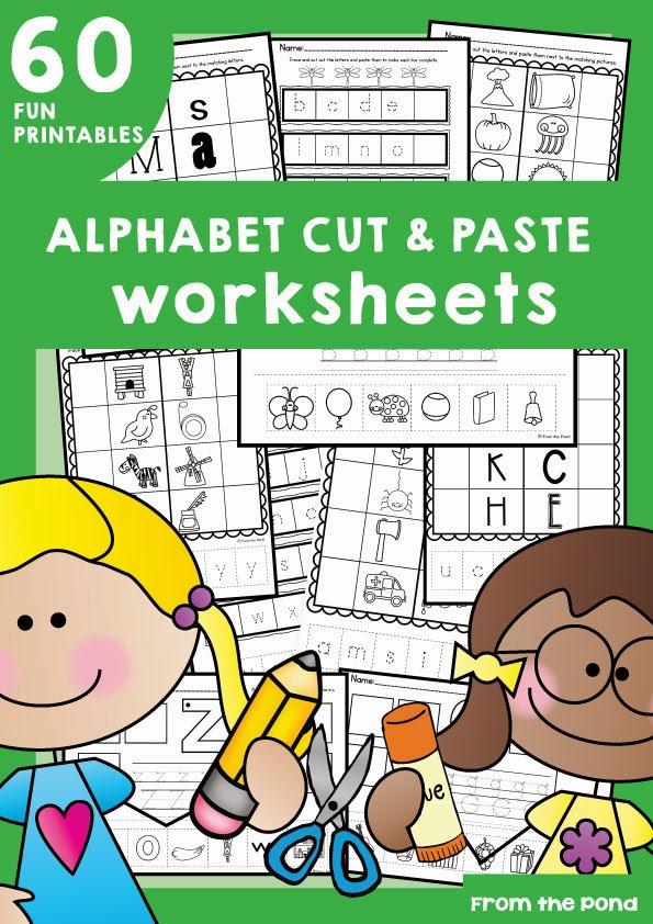 Frog Spot: Alphabet Cut and Paste Worksheets