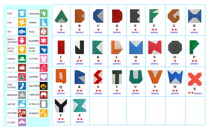 Gt alphabet origami digital learning resources
