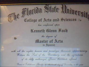 My Master's Degree Diploma